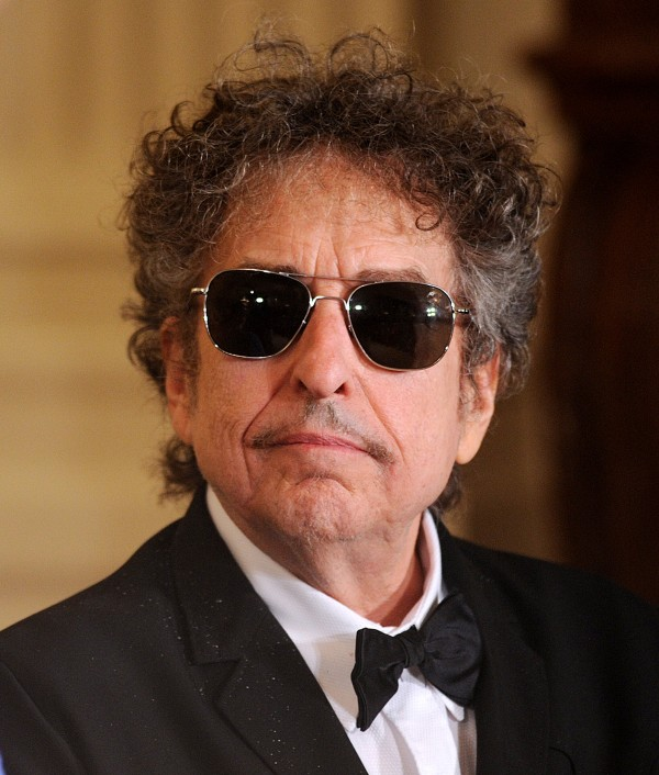 Rock legend Bob Dylan looks on during the Presidential Medal of Freedom ceremony at the White House in Washington, D.C., last year