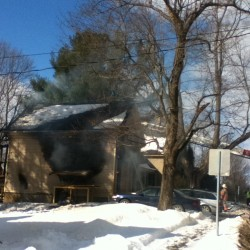 Moosehead Boulevard fire started outside building, no cause yet determined