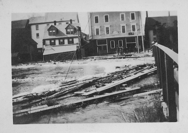 This undated photo from the Michael Hoyt collection shows the Water Street side of the landmark 5-10 building in downtown Machias when it was a garage.