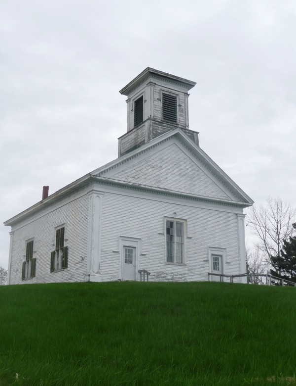 The Church on the Hill in Addison in 2011 before repairs were begun.