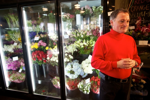Dan Kennedy, owner of Sawyer & Co., a flower shop on Congress Street in Portland, recently purchased Minott's Flowers with an SBA-backed loan.