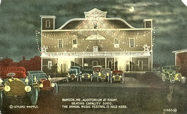 The old Bangor Auditorium was the scene of opera and roller skating as well as the annual Eastern Maine Automobile Show