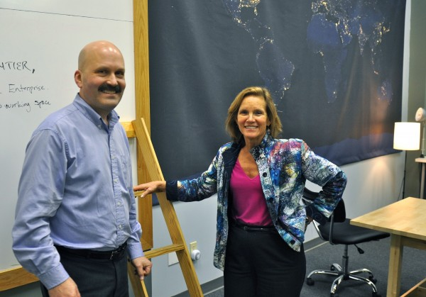 The Maine Angels, a group of angel investors, invested a record $3.3 million in 20 early-stage companies in 2012. Pictured here are Don Gooding (left), the group's  vice chair, and Sandra Stone, the group's chair.