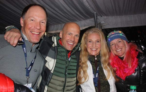 A strong core keeps these famous Olympians youthful, in shape, and still fast. Tommy Moe (from left), Doug Lewis, Donna Weinbrecht, Shannon Bahrke.