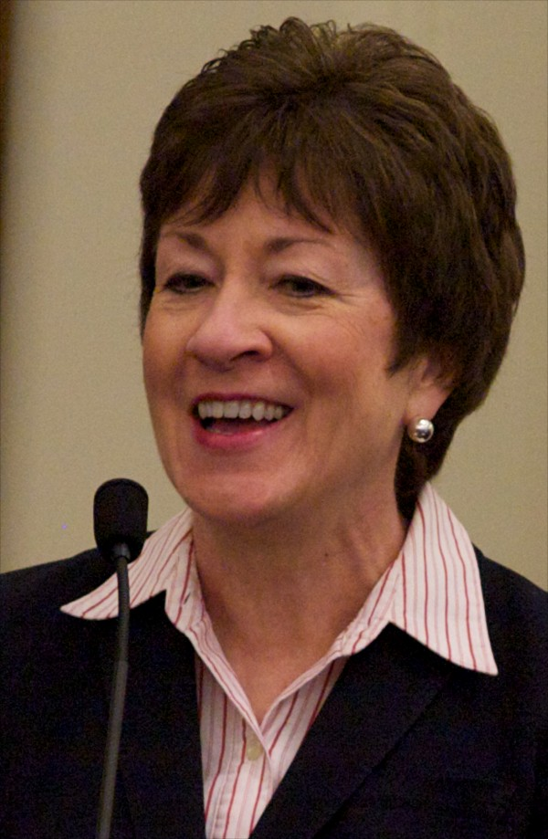 Sen. Susan Collins at the investiture ceremony for new district judge Nancy Torrensen May 3, 2012 in Portland.