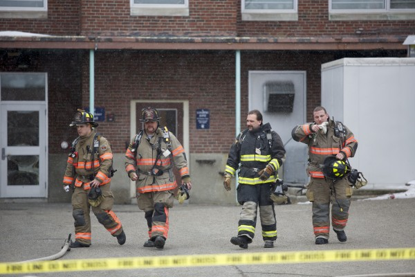 Orono hazardous material crews responded to a &quotchlorine cloud&quot at Hitchner Hall at the University of Maine in Orono at 12:15 a.m. Thursday afternoon.