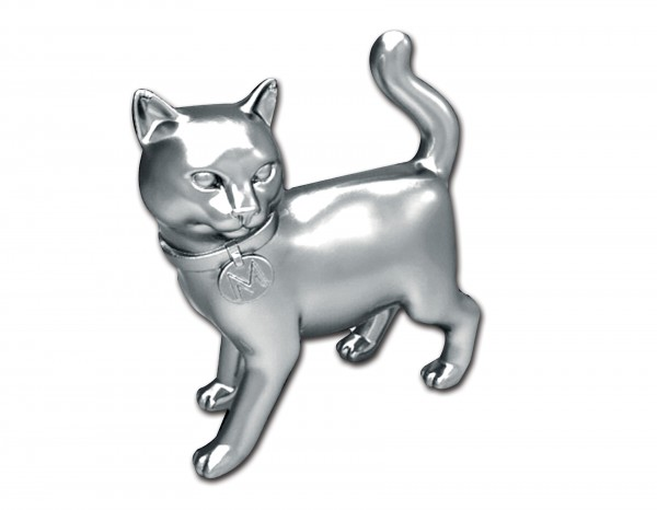 The new cat token for Monopoly is seen in this undated Hasbro Inc. handout image made available Wednesday, Feb. 6, 2013.