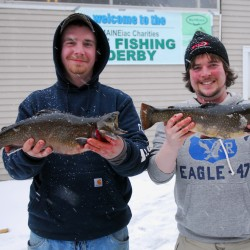 Go for togue on ice fishing derby day