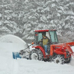 Northern Maine residents were dealing with up to a foot of snow that fell over the region Wednesday. By early afternoon the snow had tapered off with forecasters calling for another inch or so over night into Thursday