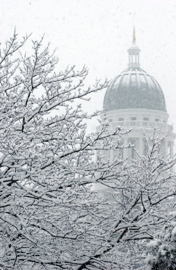 The State House in Augusta in winter 2006.