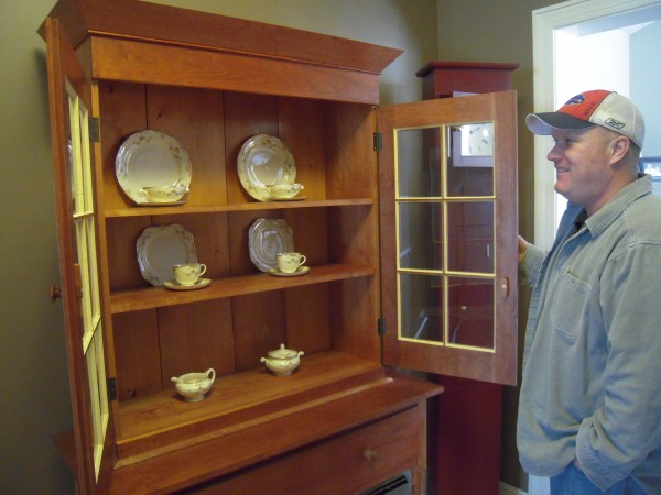 &quotThere's quite a bit of Zen involved&quot in cutting every piece to fit just right in making a piece like this Shaker Linen Press, says furniture maker Terry Kelly of Mapleton.