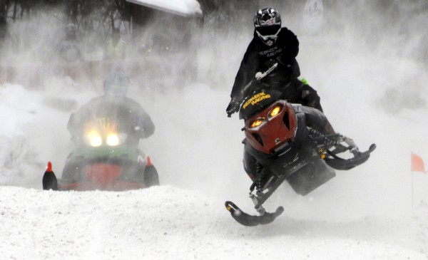 About 700 spectators and 60 snowmobile racers attended the Lincoln Snowhounds Snowmobile Club's annual Sno-Cross Races in February 2011.