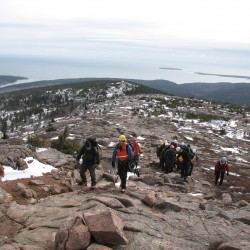 Forest service helicopter lifts stranded hiker off Beehive in Acadia