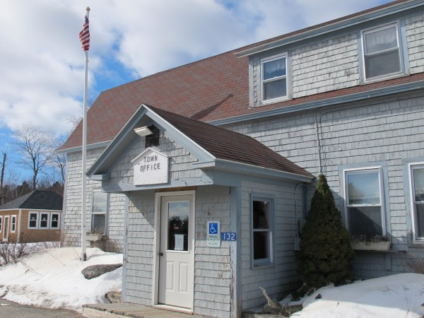 As far as town officials can tell, the building at 123 Ellsworth Road in Otis, which houses the town office and library, is about 80 years old -- and in desperate need of replacement.