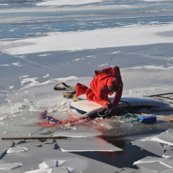 4 rescued Saturday after ATVs go through ice on Branch Lake