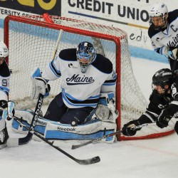 Beattie provides UMaine with 1-1 overtime tie vs. Merrimack; Bears still winless at Alfond