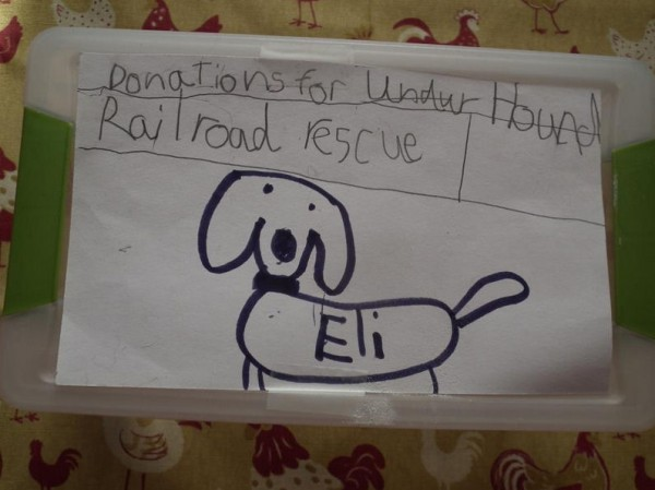 Owen Sherman of Dover-Foxcroft drew a picture of his dog Eli to encourage friends and family to donate money to the animal shelter where he received his dog instead of giving birthday presents.