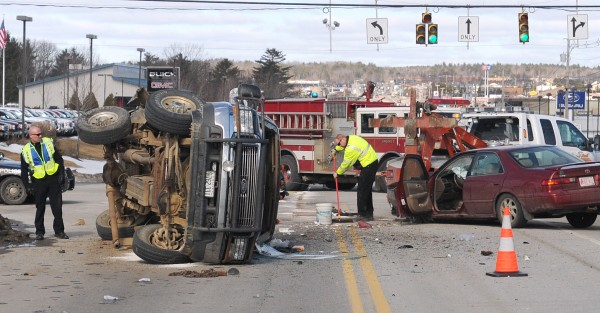 A three-vehicle accident at the intersection of Mount Hope Avenue and Hogan Road late Friday morning Gabor.
