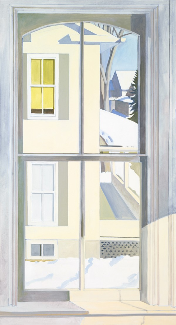 &quotView of Neighbor's House in Winter&quot 1977-78 — oil on linen