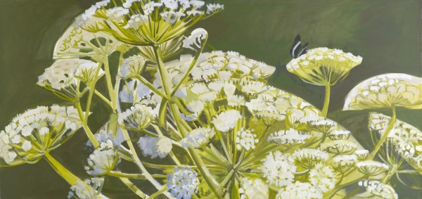 &quotCow Parsnip,&quot 1996 — oil on linen Colby College Museum of Art, Waterville. Gift of Alex Katz.