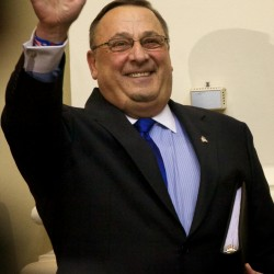 Maine Gov. Paul LePage takes the podium in Augusta on Tuesday to deliver his State of the State address.