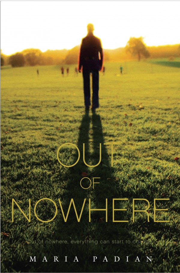 The front cover of &quotOut of Nowhere,&quot a 2013 novel by Maine author Maria Padian.