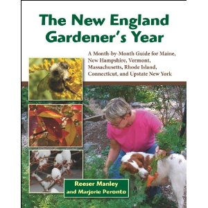 Front cover for &quotThe New England Gardener's Year,&quot by Reeser Manley and Marjorie Peronto.