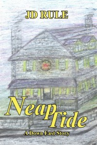 The front cover for &quotNeap Tide,&quot by JD Rule.