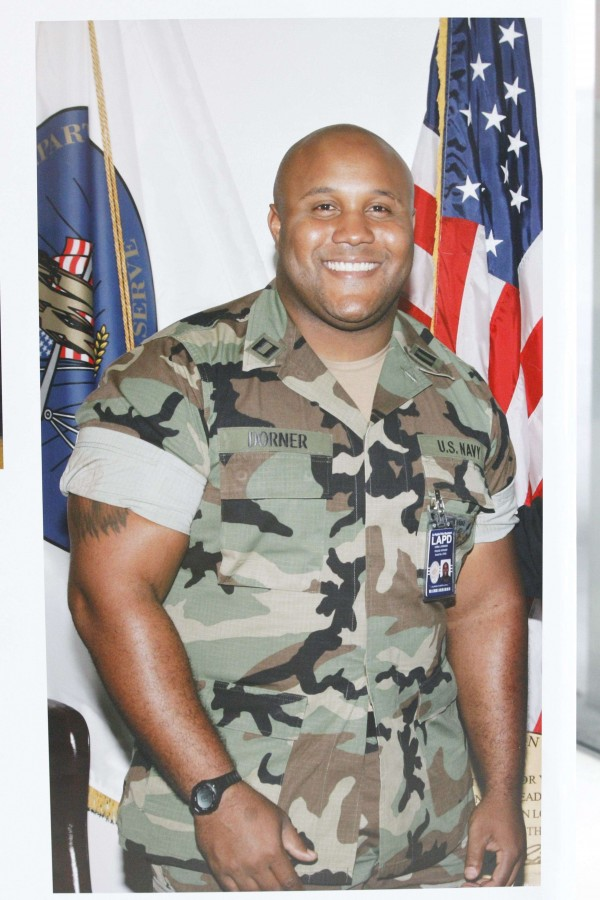 Shooting suspect Christopher Jordan Dorner is seen in this handout picture released to Reuters on Feb. 7, 2013
