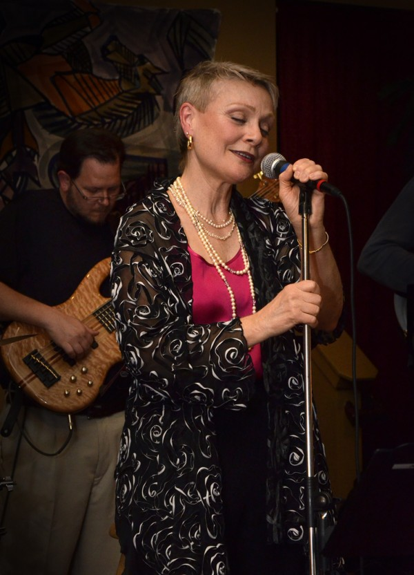 Molly Pitcher sings jazz with the new band, Interplay&quot at Nocturnem Draft Haus in Bangor last month.