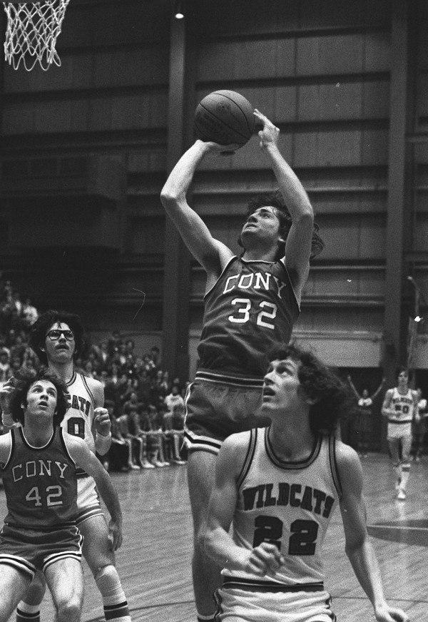 Cony's Gary Towle drives in for a basket against Presque Isle in the Eastern Maine Class A final on March 13, 1978 at the Bangor Auditorium. Towle scored 38 points to lead Cony to a 87-59 victory.