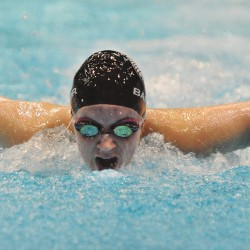 Bangor girls roll to PVC swim title