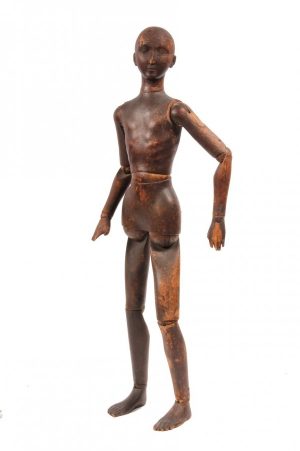 19th Century articulated artist's mannequin that sold for $6,900 at Thomaston Place Auction Galleries