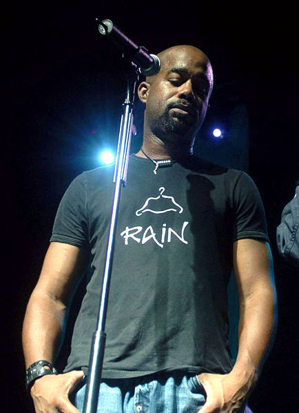 Darius Rucker during an Operation Pacific Greetings tour concert in Yokota Air Base, Japan, on May 19, 2004.