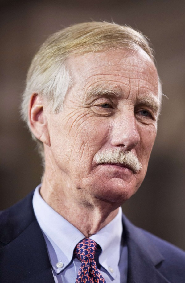Sen. Angus King in January.