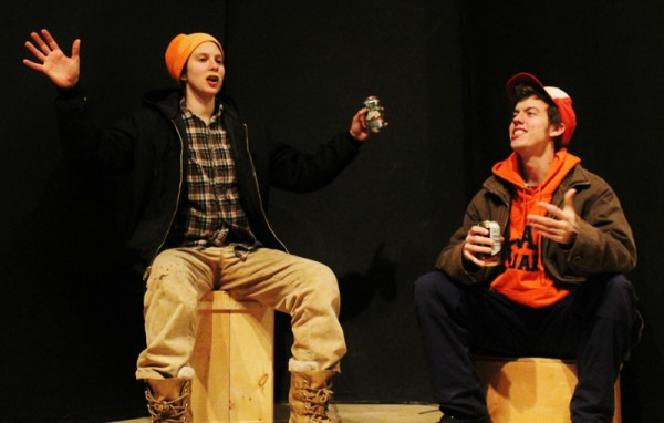 Stevie DuFresne and Ben Moniz as Randy and Chad in COA's production of &quotAlmost, Maine.&quot