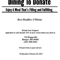 Print out this coupon and bring it to Applebee's to support Best Buddies.