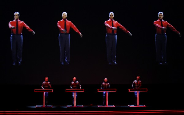 German electronic band Kraftwerk perform with a 3d stage set at the Tate Modern in London February 6, 2013.