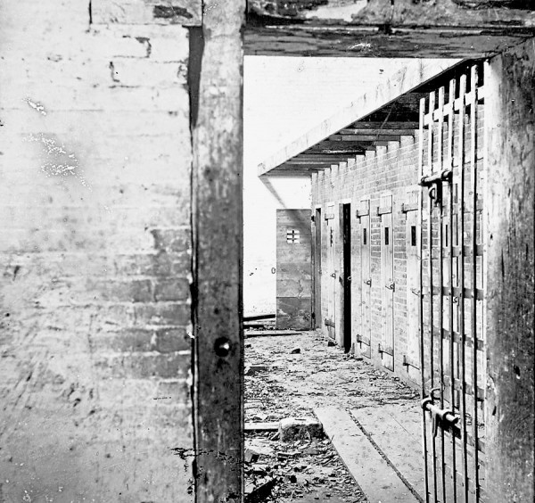 A locked door has been opened to reveal the interior of slave-holding quarters at the Price Birch & Co. in Alexandria, Va. during the Civil War. The company advertised itself as &quotDealers in Slaves.&quot The doors to cells that held one or more slaves prior to their being sold are visible.