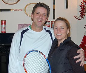 Eric Belley and Bonny Gochenauer win the Pen Bay Doubles Tennis Tournament