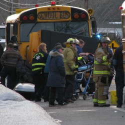 Jeep rear-ends school bus carrying 13 students in Dixmont