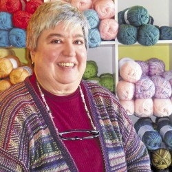 Knitting and felting help keep Orrington women in stitches
