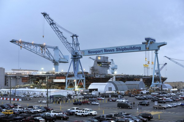 The Newport News Shipyard, in Newport News, Va., shown on Feb. 22, depends heavily on military and government contracts, could be affected if budget action isn't taken to stop the sequester.
