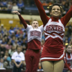 Member of Dexter cheering squad battles through heart problem