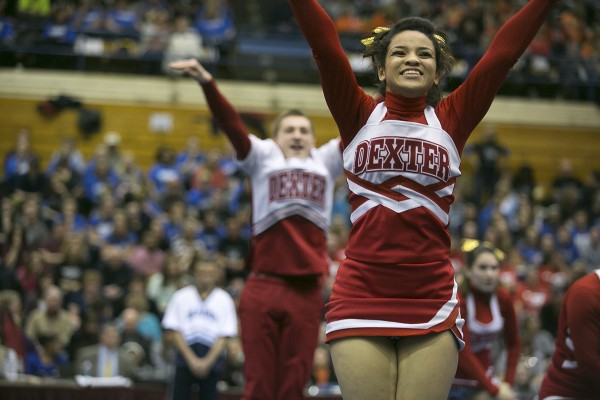The Dexter Area High School cheerleading team took home the Class C state championship at the Bangor Auditorium on Monday, February 11, 2013.