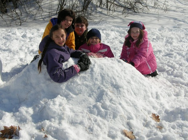Snowy kids at vacation camp!