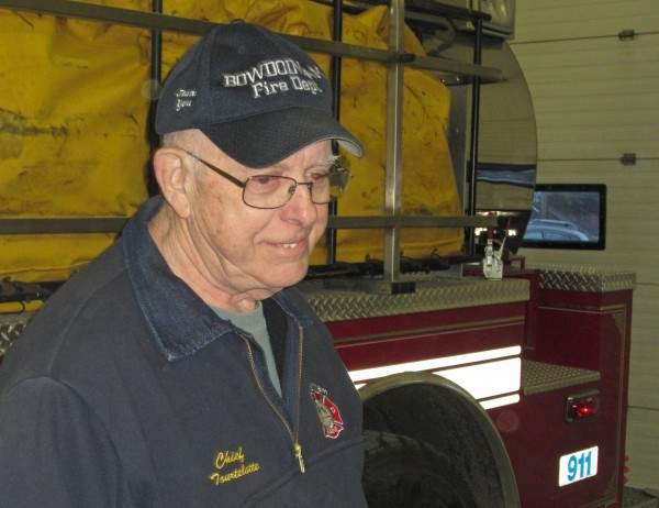 "Retiring Bowdoinham Fire Chief Jack Tourtelotte drove to the Bowdoinham Fire Station Monday night for his final training session as chief. But he'll be back next Monday for a retirement party. Incoming chief Arthur Frizzle said ""anybody and everybody"" is invited."
