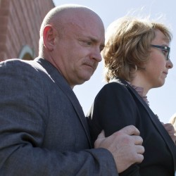 Former US Rep. Giffords, supporters bring their call for gun legislation to Maine