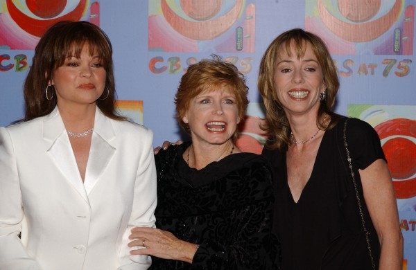 Valerie Bertinelli, from left, Bonnie Franklin and Mackenzie Phillips from the series &quotOne Day At A Time,&quot arrive at CBS's 75th Anniversary celebration on November 2, 2003 at the Hammerstein Ballroom in New York.
