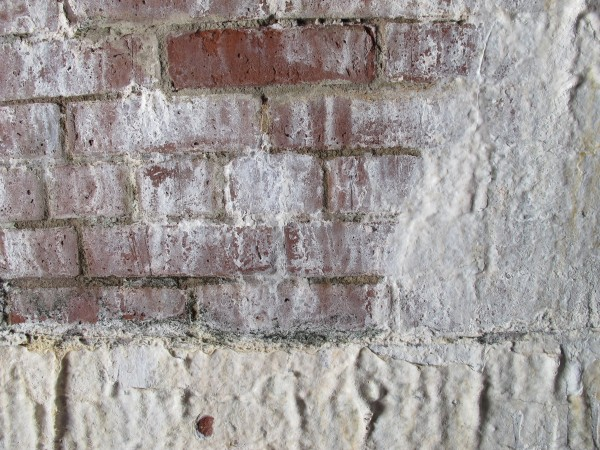 Maine's harsh winters can ruin masonry, whether brick or stone, as seen here by the calcification of mortar at Fort Knox in Prospect. Water from rain and snow causes mineral leeching in the bricks, granite stones and mortar at the fort. Over time, the leeching can harm structural integrity.